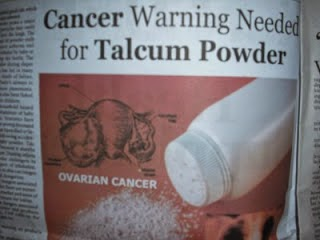 bahaya bedak bayi talcum powder
