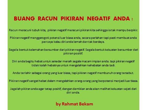 Pikiran negatif