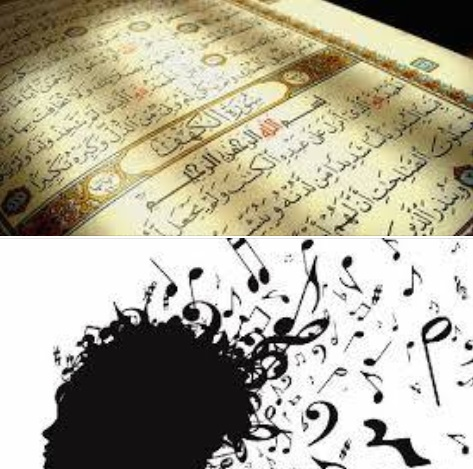 baca quran dan dengerin musik